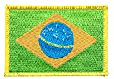 Flaggen Aufnäher Brasilien Fahne Patch + gratis Aufkleber,