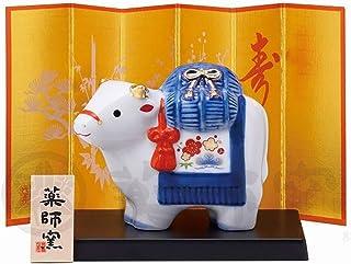 ノーブランド品 Lovely OX Carry a Rice-Bag on his Back, Made in Japan New Year's Good Luck Item. Japanese New Year's Lucky Ornamen...