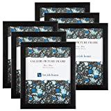 Lavish Home 82-FR810B Picture Frame Set for Gallery Wall with Stand and Hanging Hooks, 8x10, Package of 6 Pieces, Black