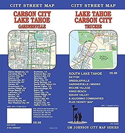 Lake Tahoe / Carson City / Minden CA Street Map: GM Johnson ... on amarillo california map, las cruces california map, ogden california map, fort worth california map, fort carson map, henderson california map, fond du lac county plat map, vasco road livermore map, zip code in carson california map, monterey pass battle map, tonopah california map, north park mall store map, city of brea california map, city of reno california map, city of gardena zoning map, susanville street map, boise california map, lahabra map, bridger city utah map, dublin ca zoning map,