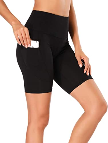 popular WOWENY High Waist Out Pocket Yoga Short Tummy Control online Workout Athletic Gym outlet sale Biker Running Shorts for Women with Pockets online sale