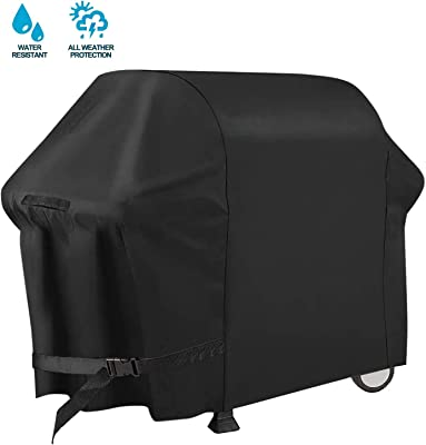 PATIOPTION BBQ Grill Cover, 30inch 600D Heavy Duty Barbeque Gas Cover Waterproof No Fading Smoker Covers, for Weber,Char Broil, Holland, Jenn Air, Brinkmann (UV/Dust/Weather Resistant/Rip Resistant)