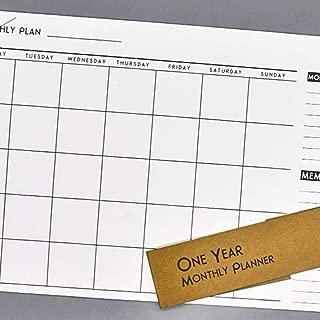 etateta 2020 Wall Calendar, Monthly Schedule A3 Wall Planner, Memo Notes Calendar for Home Office Favorable