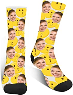 Amlion, Calcetines personalizados con imagen de caras, calcetines divertidos personalizados para hombres, mujeres, niños y niñas, unisex
