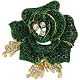 EVER FAITH Women's Austrian Crystal Blooming Beautiful Rose Flower Brooch...
