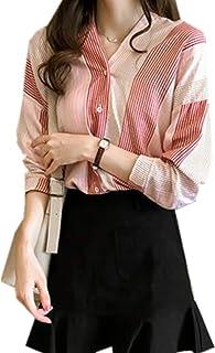 ININUK シャツ レディース ブラウス トップス 上着 体型カバー 長袖 オフィス ワイシャツ ビジネス シャツ 可愛い 通勤 ゆったり 着痩せ 夏 カジュアル ファション