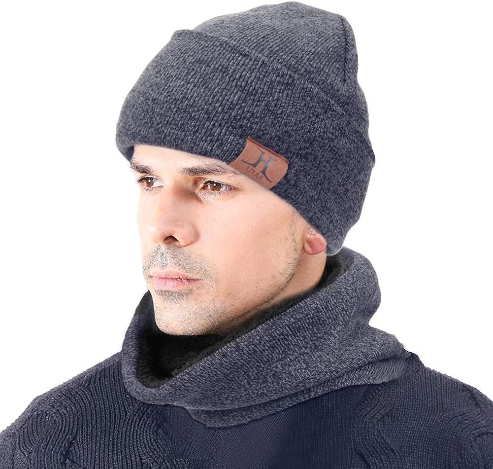 Beanie mysuntown Winter 3er-Set Dick Strick Totenkopf M/ütze f/ür M/änner und Frauen Touchscreen-Handschuhe Schal