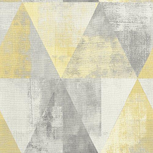 Rasch 410921 Vliestapete, gelb, Grau