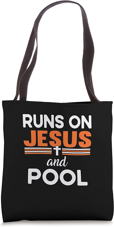 Runs on Jesus Max 69% OFF and Pool Tote Las Vegas Mall Bag Religious Christian