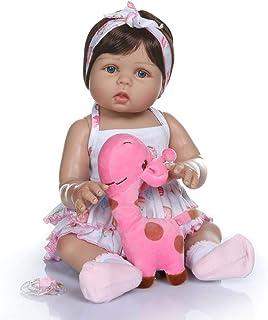Terabithia 18inch 47cm Tan Suave y Suave Toque de Silicona Vinilo de Cuerpo Completo Reborn Baby Dolls in Tan Skin Real Preemie Awake Newborn Doll Lavable para niña