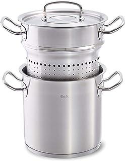 Fissler original-profi collection / Olla para espárragos (6 litros, Ø 20 cm) de acero inoxidable, apta para cocinas de inducción, gas, vitrocerámica y eléctricas