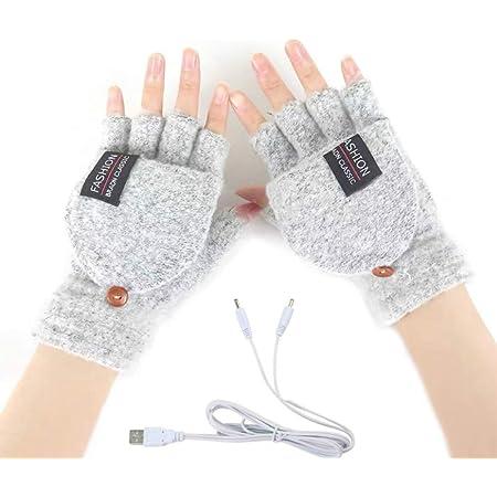 Guantes de cuero Guantes de invierno el/éctricos para calefacci/ón con calentador de manos USB de pantalla t/áctil Guantes de conducci/ón Guantes