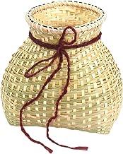 EXCEART Tkany kosz do przechowywania bambusowy wisiorek DIY malarstwo kosz wędkarski dekoracja kosz owoce warzywa kosz do ...