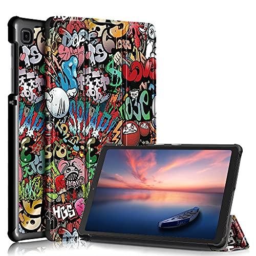 Galaxy Tab A7 Lite 8.7' Funda,Heavy Duty Estuche Case Billetera Cover Cierre Magnético Caso con Auto Wake/Sleep Cubrir Shell para Samsung Galaxy Tab A7 Lite 8.7' 2021 SM-T220/T225 Tablet (Pintada)