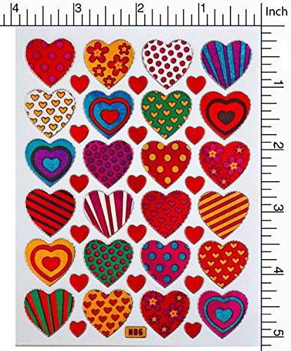 Jazzstick 240 Colorful Valentine Heart Decorative Sticker 10 sheets (VST01A06) |