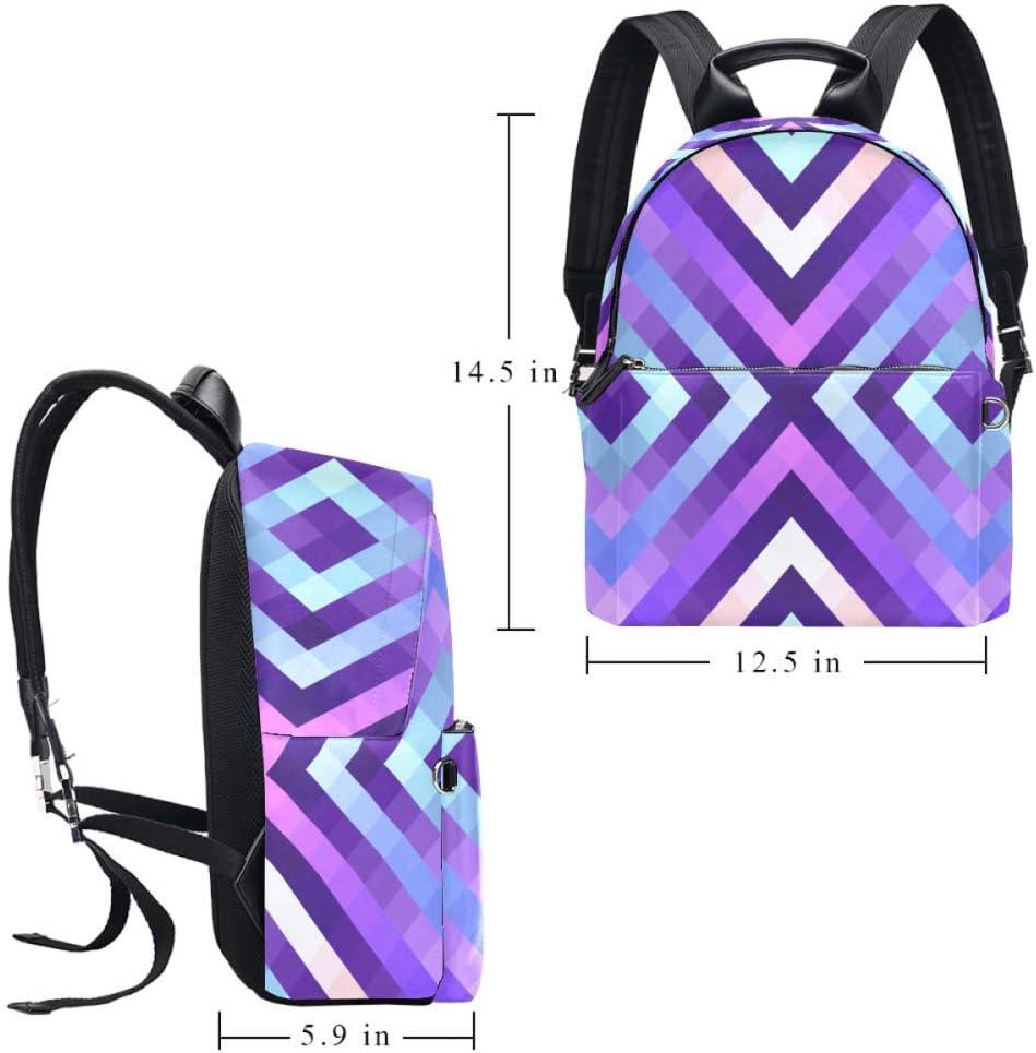 TIZORAX Sac à dos en cuir pour homme, femme, fille, garçon, sac à dos Motif 3 14.5x12.5x5.9in Motif 6