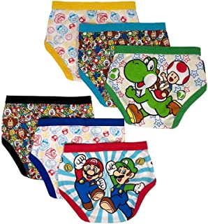 Handcraft Super Mario Bros 6-Pack Boys Briefs Underwear Mario Luigi Yoshi