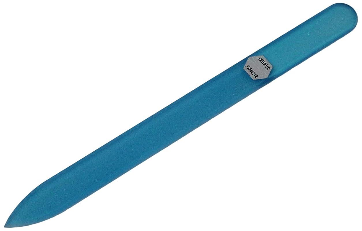 言い直す欺く飲食店ブラジェク ガラス爪やすり 140mm 片面タイプ オールカラー ブルー B-03