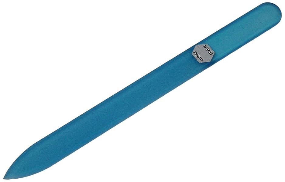 必要性年齢つまらないブラジェク ガラス爪やすり 140mm 片面タイプ オールカラー ブルー B-03