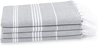 """HABER Premium Turkish Hand Towel , 36"""" X 25"""", 100% Long Staple Cotton, Absorbent & Quick Dry Hand Towel 