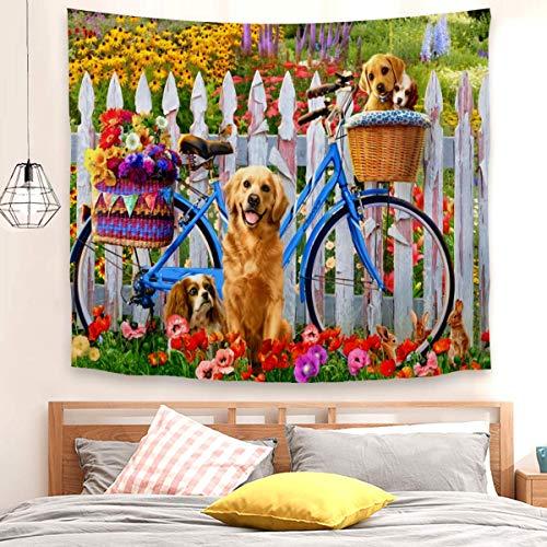 Tapiz para colgar en la pared, diseño de pedales, para dormitorio, sala de estar (100 x 150 cm)