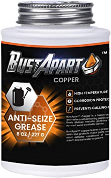 Copper Anti Seize Lubricant   Copper Grease   Brake Grease Pins & Cams   Spark Plugs   Thread Compound   Bolt Grease Screw Lube   High Temp   Automotive   Never Seize Paste   8 Oz Brushtop   Bustapart: image