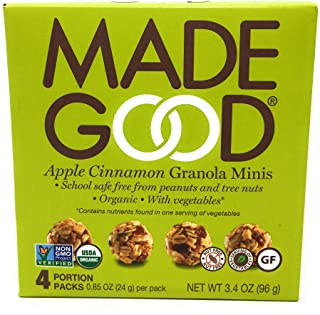 Made Good Granola Minis - Apple Cinnamon - Case of 6 - 3.4 oz.
