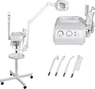 ELITE Series 3 in 1 Aromatherapy Facial Steamer, 5x Magnifying LED Lamp, High Frequency Machine, & Instrument Tray for Salon Spa Beauty Equipment