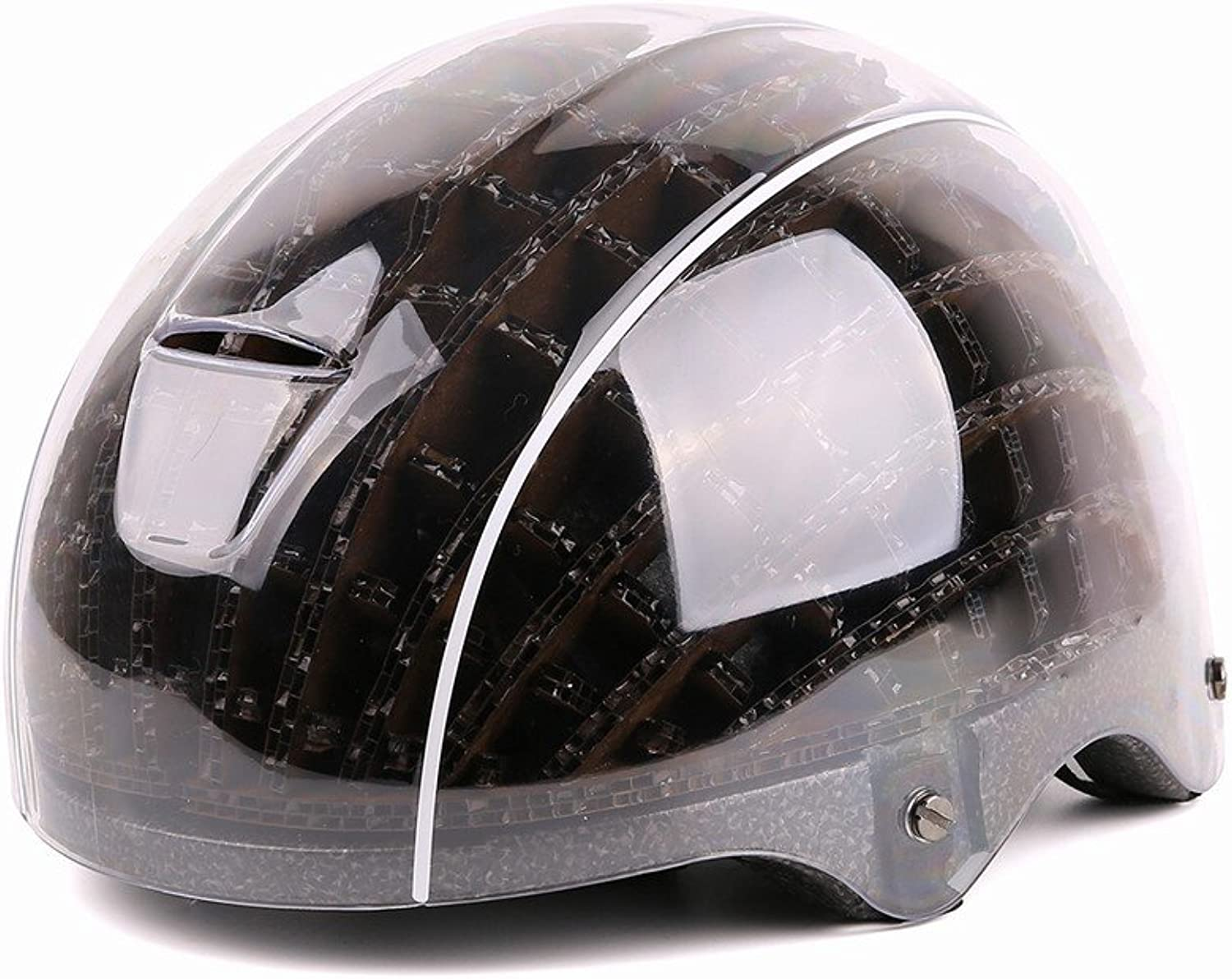 GJJ Cycling Helmet Mountain Road Bike Helmet, Lightweight Outdoor Sports Double Wooden Helmet,A,M