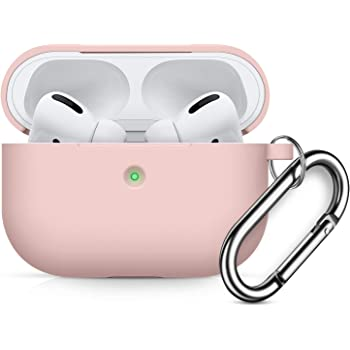 Compatible AirPods Pro Case Cover Silicone Protective Case Skin for Apple Airpod Pro 2019 Front LED Visible Light Pink