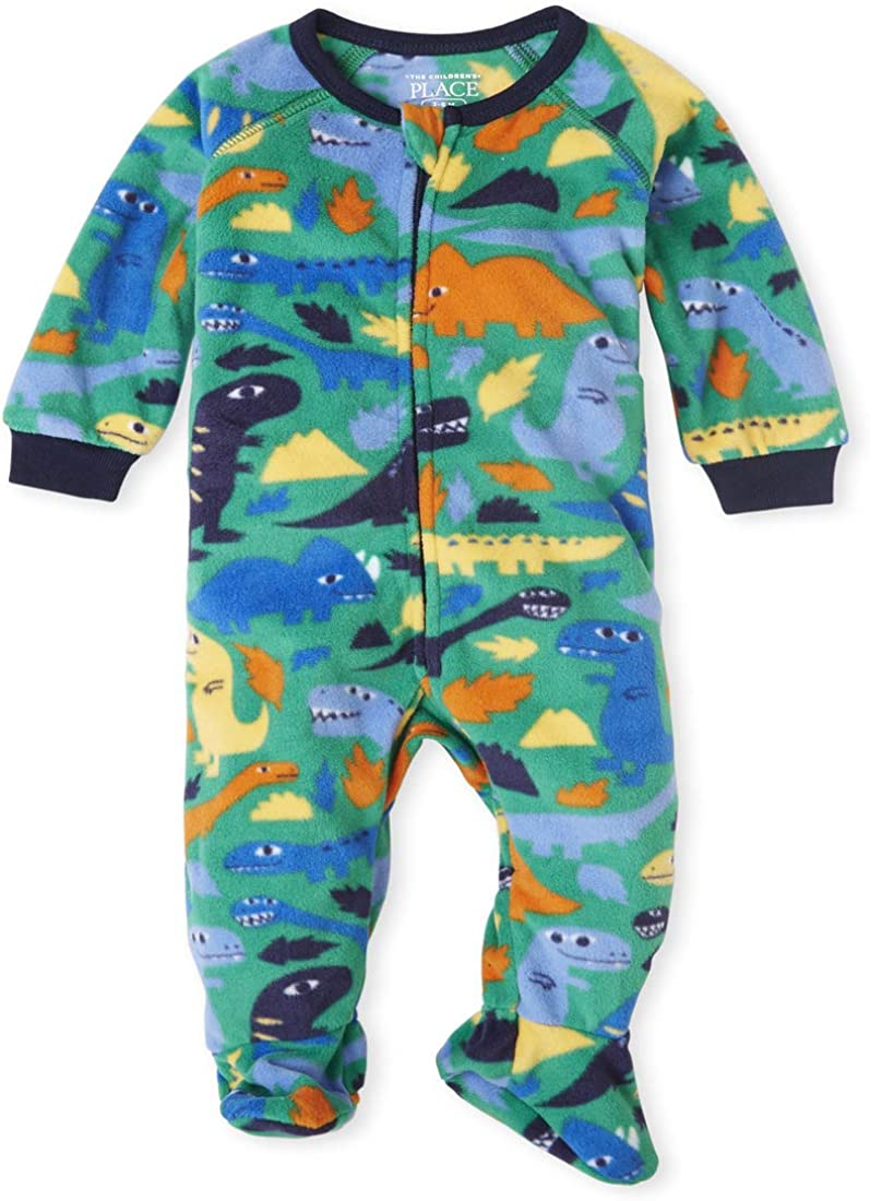 The Childrens Place Boys Baby and Toddler Space Fleece One Piece Pajamas