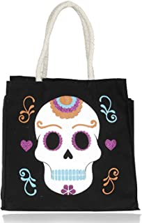 Heart Home Canvas Small Lunch Carry Bag (Black)- CTHH21925