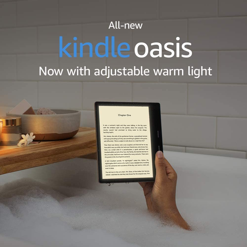 All-new Kindle Oasis - Now with adjustable warm light - 32 GB, Graphite - Free 4G LTE + Wi-Fi (International Version - AT&T)