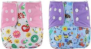 WeiterVor Pack de 2 Pañal Bañador Reutilizable Para Bebé