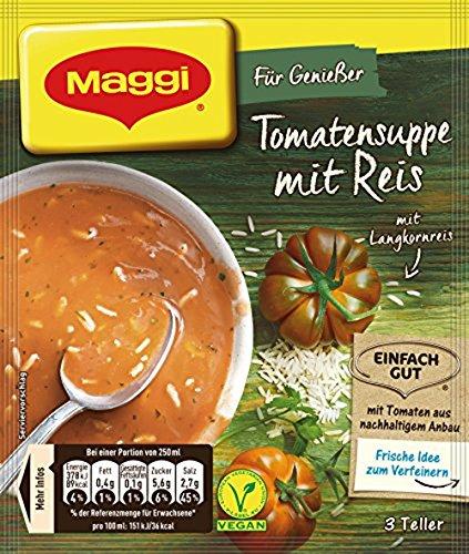 Maggi Tomatensuppe mit Reis, 1er Pack (1 x 80 g)