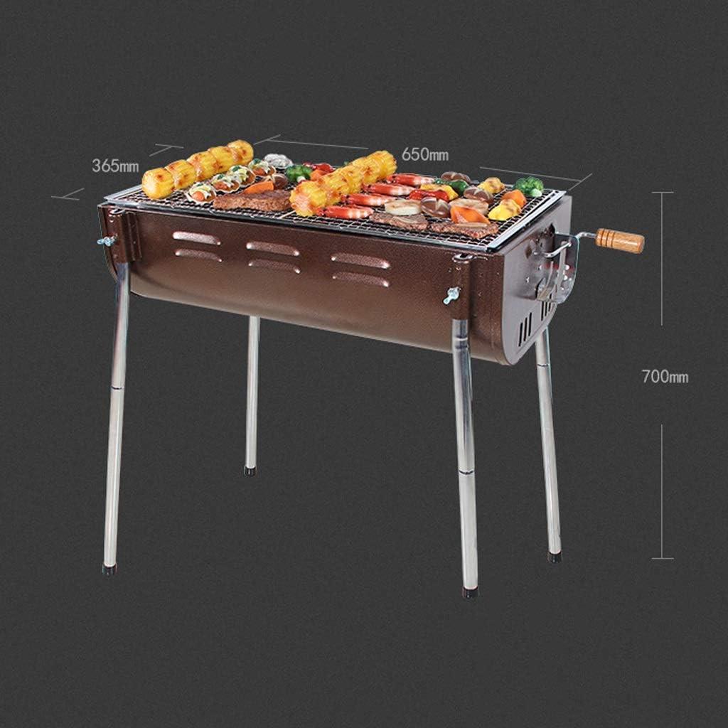 RKY Barbecue, Maison portable en plein air for plus de 5 personnes épaissis Outils Barbecue au charbon Barbecue à charbon / - / (Color : A) C