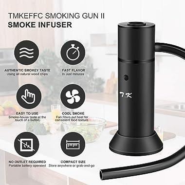 TMKEFFC Smoking Gun Portable Smoker Infuser, Handheld Cocktail Smoke Food Smoker for Meat, Sous Vide, Drinks, Cheese, Cup Cov