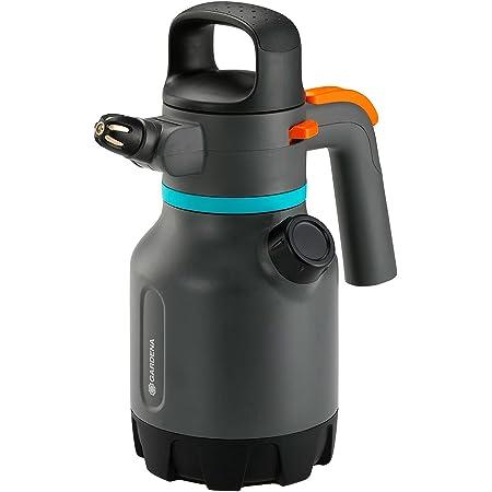 Pulvérisateur à pression 1,25l GARDENA: Pulvérisateur à pression avec buse coudable à 90°, deuxième ouverture avec bouchon doseur supplémentaire, poignée ergonomique (11120-20)