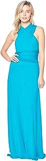 12 Ami Solid Convertible Multi Way Long T-Shirt Maxi Dress - Made in USA