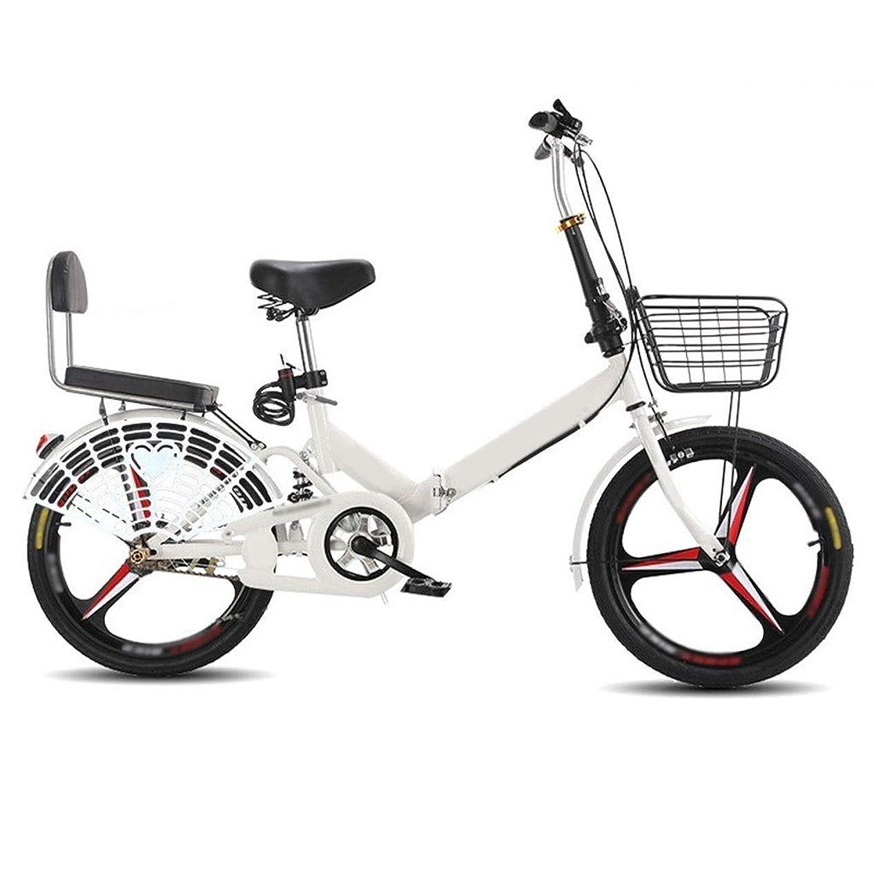 完了学習証拠女性と子供のための適切な折り畳み式自転車、超軽量、ポータブル、高炭素鋼フレーム、屋外クロスカントリーバイク、 (Color : E, Size : 20inch)