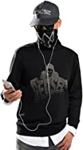 Elegant Men's Watch Dogs 2 Marcus Holloway Faux Two-Pieces Pullover Sweater Cosplay