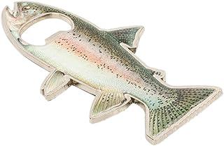 Flower205 Ouvre-bouteille en forme de poisson, Bouteille de poissons de la truite en acier Aimant de réfrigérateur inoxydable