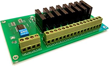 8 Channel I2C Solid State Relay Module for Arduino Raspberry PI and All Mic, AC Voltage Frequency Range 50…60Hz, AC Controlling Voltage Range 100…240VAC