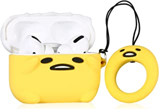 Lupct PP Lazy Egg Compatible for Airpods Pro/for Airpods 3 Case Silicone,Cute Cartoon 3D Unique Air pods Design Cover, Fun Fashion Funny Cases for Kids Girls Teens Character Skin Keychain for Airpod 3