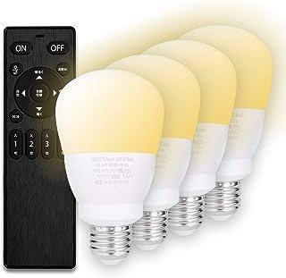 【Amazon限定ブランド】60w形相当 調光調色 リモコン付 LED電球 口金 E26 FineKagu+ (電球4個リモコン1個セット)