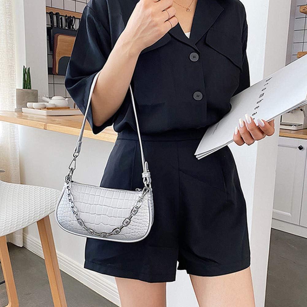 ALEOHALTER Retro Classic Clutch Kleine Schultertasche Tote Handtasche PU Leder mit Rei/ßverschluss f/ür Frauen