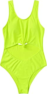 Women's Cut-Out Front Knot Scoop Neck One Piece Swimsuits Sexy Bathing Suits