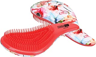 Cala Tangle free coral floral hair brush, Flower Pink/Blue