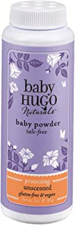 Hugo Naturals Baby Powder, Shea Butter, 3 Ounce Bottle, (Pack of 2)