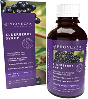 Provezza Laboratories Sambucus Black Elderberry Syrup for Kids and Adults - Original Immunity Formula: European Elderberry Extract and Zinc for Maximum Daily Immune Support (4.0 Ounces)